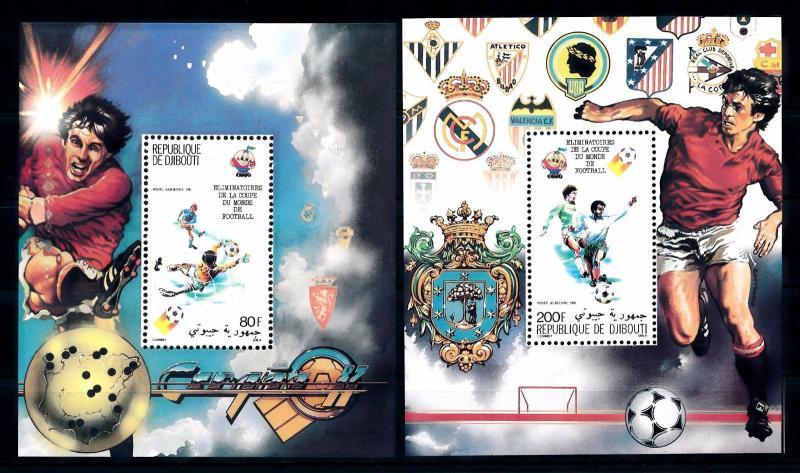 [59530] Djibouti 1981 World Cup Soccer Football Spain MNH Sheets