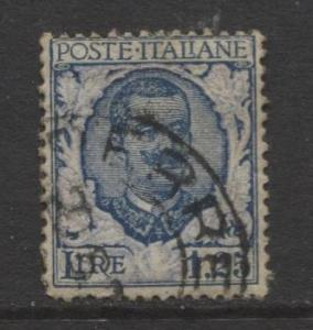 Italy - Scott 88 - Victor Emanuel III -1901 - Used - 1.25l - Bl & Ultra Stamp