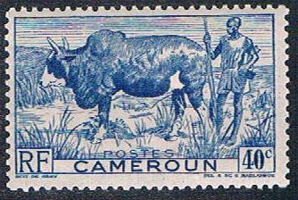 Cameroun 306 MLH Zebu and herder (BP642)