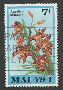 Malawi Scott 330  Used  Flowers, orchids