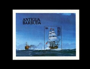 ANTIGUA - 1984 - SHIP - SAILING SHIP - MAN OF WAR - PERF - MINT - MNH S/SHEET!