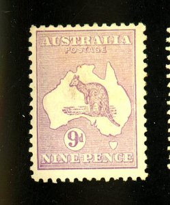 Australia #50 MINT F-VF OG HR Cat $80