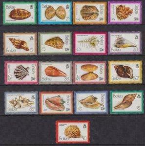 Belize 1980 SC 471-487 MNH Set Shells