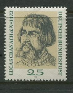 GERMANY. -Scott 1091 - Lucas Cranach.-1972- MNH -Single 25pf Stamp
