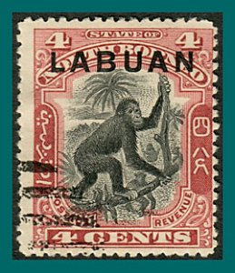 Labuan 1900 Orang-utan, cancelled #97a,SG113