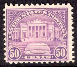 US Stamp #701 50c Arlington Amphitheatre MINT NH SCV $50