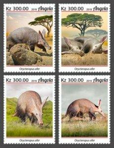 Angola - 2019 Aardvark on Stamps - 4 Stamp Set - ANG190209a