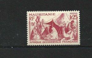 MAURITANIA  1938 - 40  1F 25  CARMINE       MH