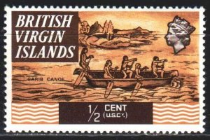 British Virgin Islands. 1970. 202 from the series. Boat rowers. MNH.