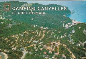 11120 Ansichtskarte Postcard CAMPING CANYELLES LLORET DE MAR ESPANA