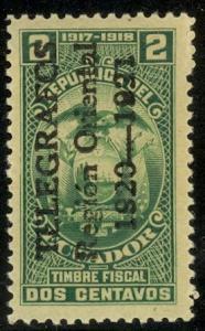 ECUADOR TELEGRAPH STAMPS 1920 2c Region Oriental UP Hiscocks No.55 MNH