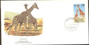 Kenya FDC SC# 491 Reticulated Giraffe L52