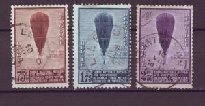 J21304 Jlstamps 1932 belgium set used #251-3 baloons