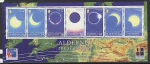 ALDERNEY SGMSA131 1999 TOTAL ECLIPSE OF THE SUN MNH