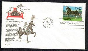 2157 Horses:  Saddlebred Unaddressed Aristrocrat FDC