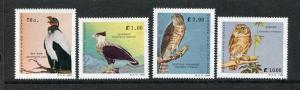 Salvador 1221-1224, MNH, Birds King Vulture, Hawk, Crested Caracara 1989. x29118