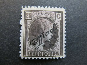 A4P27F133 Letzebuerg Luxembourg Official Stamp 1926-27 25c mh*