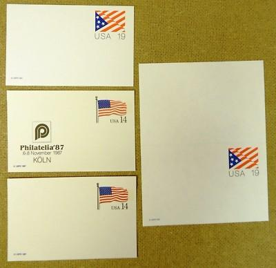 Mint 14c 19c USA Flag Stamp Postcards 23qty