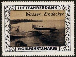 Germany Waterplane WWI Air Force Memorial Luftfahrerdank Flight MNH  Cin G102812