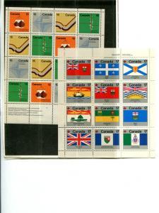 Canada   2  mini sheets Mint  VF NH