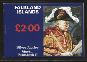 FALKLAND ISLANDS SC# 254a-56a COMP BKLT OF 3 SHEETS  FVF/MNH