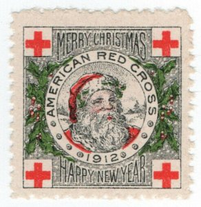 (I.B) US Cinderella : Red Cross Christmas Seal (1912)