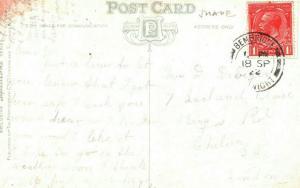 GB Isle of Wight Bembridge Postcard *Stunning Shade* 1922 {samwells-covers} K335