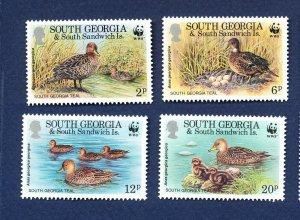 SOUTH GEORGIA   - # 162-165 - VFMNH - ducks birds - WWF -