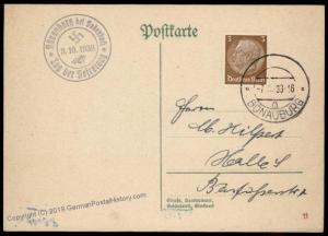3rd Reich Germany 1938 Buenaburg Sudetenland Annexation Provisional Cover 69839