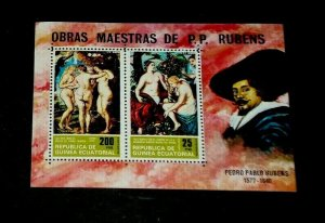 TOPICAL, ART, 1970, EQUATORIAL GUINEA, RUBENS, SHEET/2, MNH, LOT #12, LQQK