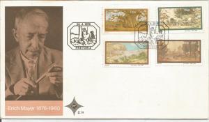 SOUTH AFRICA, 1975 FDC,  Erich Mayer. Scott 461-464