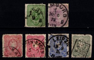 Germany 1875 Empire Definitives Pfennige with final 'E' Part Set [Used]