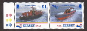 Jersey   #888-889   MNH  1999  pair  lifeboat institution