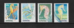 MARINE LIFE - TOKELAU #293-6 SEAHORSES  MNH