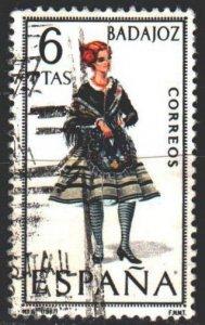Spain. 1967. 1690. Folk costumes. USED.