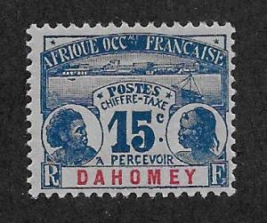 DAHOMEY SC# J3  FVF/MOG 1906