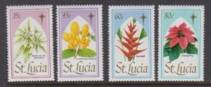 1988 St. Lucia Scott # 927-930 Christmas MNH