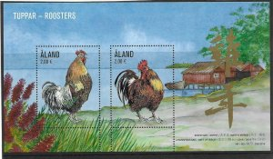 2016    ALAND - SG: MS 444 -  ROOSTERS  - UNMOUNTED MINT