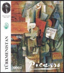 Turkmenistan Art Paintings P. Picasso S/S MNH Cinderella !