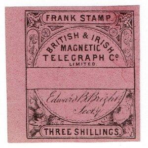 (I.B) British & Irish Magnetic Telegraph Company 3/- (no control)