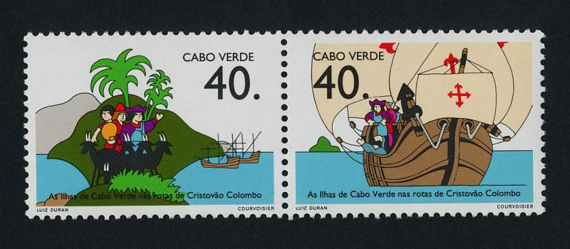 Cape Verde 617a MNH Christopher Columbus, Ship