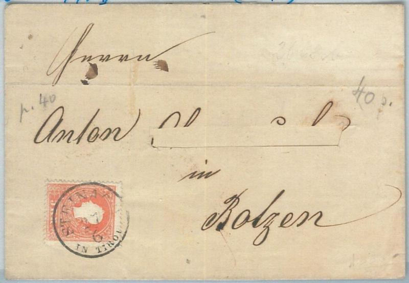 69819 - AUSTRIA - POSTAL HISTORY - TYP II on COVER from STEINACH 1860
