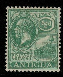 ANTIGUA SG62 1921 ½d DULL GREEN MTD MINT