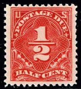 US STAMP #J68 – 1925 1/2c Postage Due dull red MNH/OG