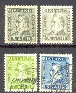 Iceland Sc# 195-198 Used 1935 Matthias Jochumsson