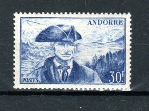 France -  Andorra (French) 1951 30f Councillor Jaume Bonell MNH