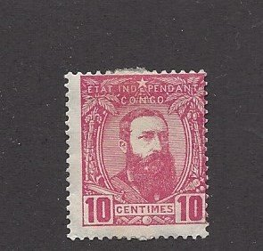 Belgian Congo, 7,  King Leopold II Single, **Hinged**