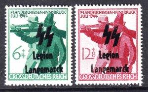 GERMANY B278-B279 LEGION LANGEMARCK OVERPRINTS OG NH U/M F/VF TO VF