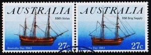 Australia. 1983 27c(Pair). S.G.879/880 Fine Used