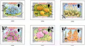 Jersey  Sc 1042-7 2002 Battle of Flowers stamp set used
